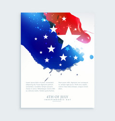 American 4th july flyer design vector