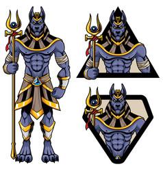 Anubis god mascot vector