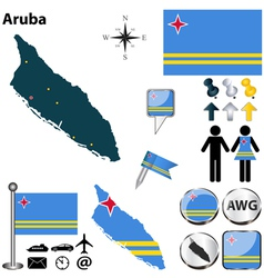 Aruba map vector image