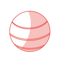 ball sport shadowflat vector image