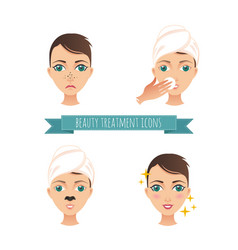 Beauty treatment acne treatment vector