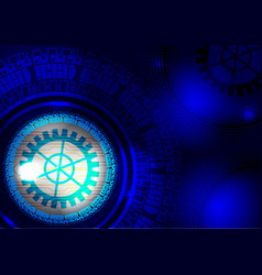 Blue abstract digital technology concept vector