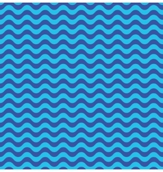 Blue sea waves seamless pattern vector image