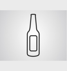 bottle icon sign symbol vector image