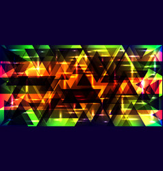 Bright shiny triangles vector