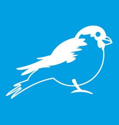 Bullfinch icon white vector