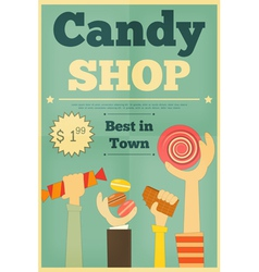Candy shop hands vector
