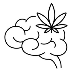 cannabis marijuana or weed and brain vector image