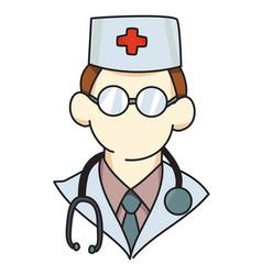 Cartoon image doctor icon physician symbol vector