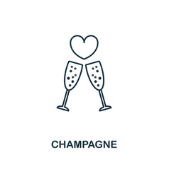 champagne outline icon premium style design from vector image