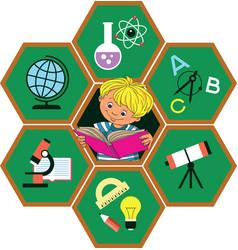 children and school vector image