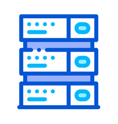 computer equipment server thin line icon vector image