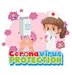 coronavirus protection with doctor cartoon vector image