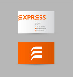 Delivery express logo vector