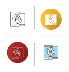 devices passwords changing icon vector image