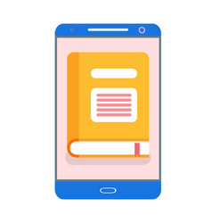 electronic version of yellow book in gadget vector image