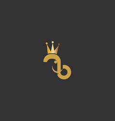 elephant king logo icon vector image