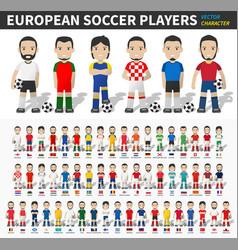 European soccer cup tournament 2020- 2021 player vector