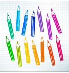 Felt pen drawing of pencils vector
