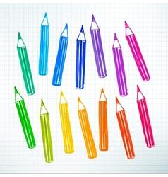 Felt pen drawing pencils vector