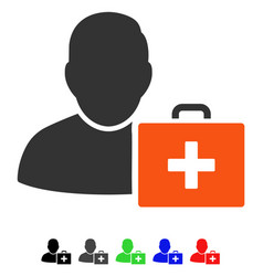 First aid man flat icon vector