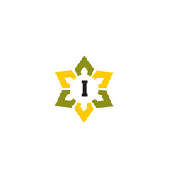 Flower infinity letter i vector