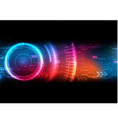 Futuristic technology background vector