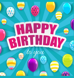 glossy happy birthday star background eps10 vector image
