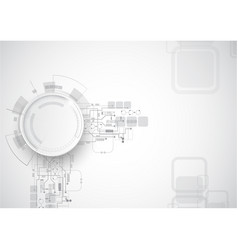 Grey circuit abstract technology vector