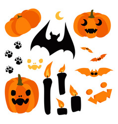 happy halloween design elements halloween vector image