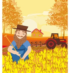 harvest in a sunny day vector image
