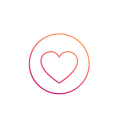 Heart thin line icon vector