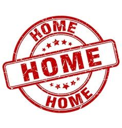 home red grunge round vintage rubber stamp vector image