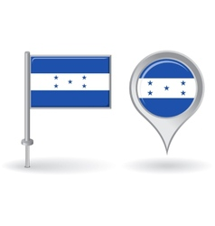 Honduras pin icon and map pointer flag vector