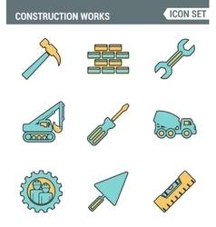 Icons line set premium quality of construction vector image