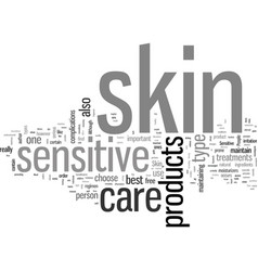 Important facts on sensitive skin care vector