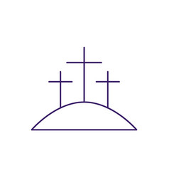 Isolated three crosses line design vector