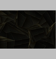 luxury background with golden geometric lines mesh vector image