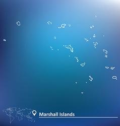 Map marshall islands vector