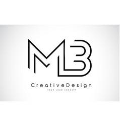 Mb m b letter logo design in black colors vector