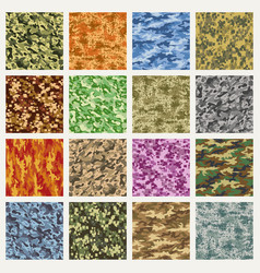 Military and marine uniform camouflage patterns vector
