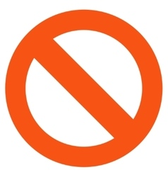 Not Available Flat Icon vector