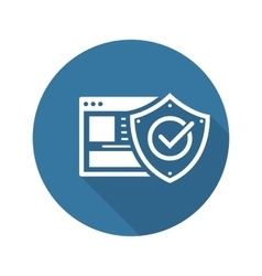 Online Protection Icon Flat Design vector