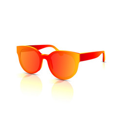 orange abstract sunglasses with colored vector image