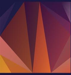 Polygonal square background purple orange colors vector