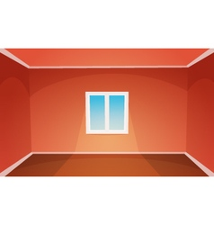 Red Empty Room vector