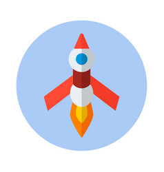 Rocket flat icon rocket icon f vector