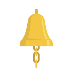 Sailor bell icon flat style vector