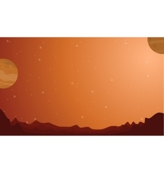 Scenery of outer space planets vector