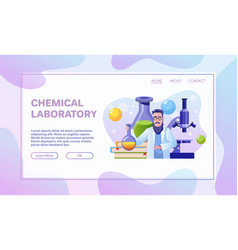 Scientific laboratory flat vector